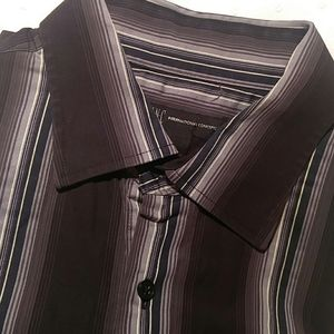 French cuff striped men's dress shirt Inc Internat